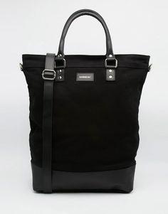 Bild 1 von Sandqvist – Kaj – Einkaufstasche aus Leinen mit Lederverzierung