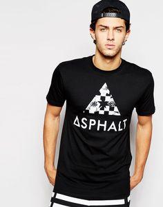 Lækre Asphalt Yacht Club Chequer Logo T-Shirt - Black Asphalt Yacht Club T-Shirts & Veste til Herrer i fantastisk kvalitet