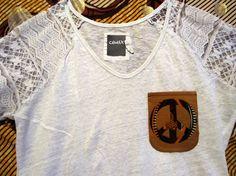 """Pour le défi """"la paix"""": Tee shirt customisé wax motif africain Upcycling"""