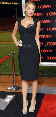"""Blake Lively in Antonio Berardi at the 2010 premiere of """"The Town"""""""