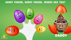 "Watch and enjoy ""ice cream finger family"" nursery rhyme for children. Lyrics: Daddy finger, daddy finger, where are you? Baby Finger Song, Finger Rhymes, Finger Family Song, Family Songs, Nursery Rhymes, Daddy, Ice Cream, Collection, No Churn Ice Cream"