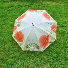 My painted umbrella in poppies.