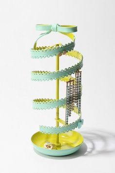 spinning ribbon jewelry stand.