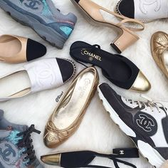 WEBSTA @ r1cc1 - When you have your Chanel shoe collection in front of you