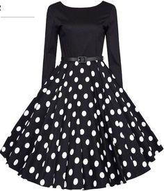 Plus Size Audrey Hepburn Vintage Dresses 2017 New Spring Long Sleeve Polka Dot Women's Swing Dress vestidos Vintage Outfits, Vintage 1950s Dresses, Vintage Fashion, 1950s Fashion Dresses, Retro Outfits 1950s, 1950s Clothes, Vestidos Vintage, 50s Vintage, Vintage Chairs