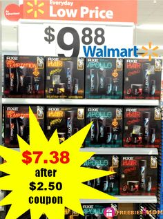 Look for a $2.50 peelie coupon on $9.88 AXE Holiday Gift Packs at Walmart ----> $7.38 for 3 full-size AXE products http://freebies4mom.com/axegifts/ #ad