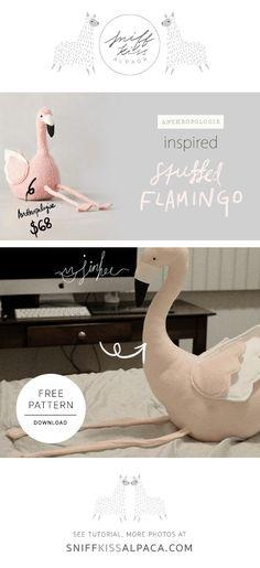Stuffed flamingo | Tutorial | DIY | Baby | Sniff Kiss Alpaca