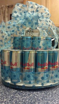 Redbull and vodka cake! This is my next birthday cake! Just put Ambiq in the middle :)