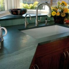 Slate Worktop with Sink