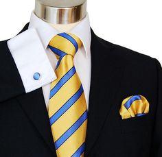 Neck Ties, yellow ties, Striped Ties, Designer Ties, Silk Ties