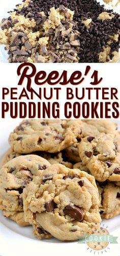 Chocolate Chip Cookies, Chewy Peanut Butter Cookies, Reeses Peanut Butter, Yummy Cookies, Crazy Cookies, Easy No Bake Desserts, Köstliche Desserts, Delicious Desserts, Dessert Recipes