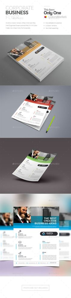 Buy Coporate Flyer by ColorsMarket on GraphicRiver. File Information This File open is programs cc, cc+), it's item minimum adobe photoshop c. Corporate Flyer, Corporate Business, 100 Free Fonts, Creative Flyers, Text Fonts, Business Flyer Templates, Stationery, Photoshop, Internet