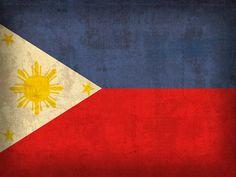 Philippines Flag Vintage Distressed Finish Mixed Media