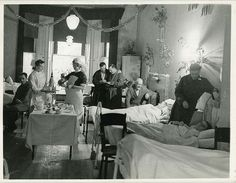 Christmas at the Norwegian Hospital in London, WW2. Source