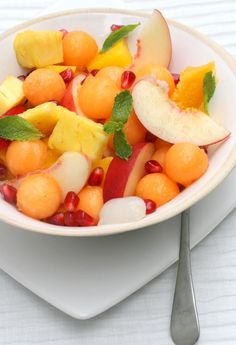 Summer fruit salad: Made it for my sister's bridal shower and was the best darn thing I have ever tasted!