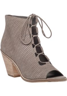 Eileen Fisher | Gray The Slew Woven-Leather Ankle Boots | Lyst