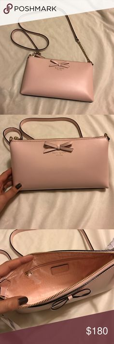 Blush Pink Kate Spade Purse ♠️ Gorgeous cross body purse. New with tags! Authentic. kate spade Bags Crossbody Bags
