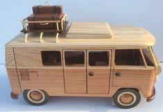 VW Bulli camper wooden model