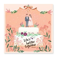 wedding invitation card, better together