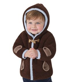 This Brown & Blue Winter Jacket - Infant & Toddler is perfect! #zulilyfinds