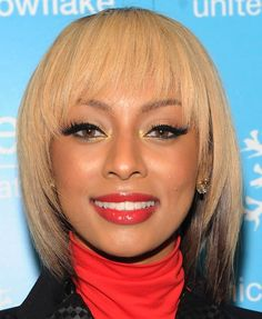 Keri Hilson straight hairstyle with bangs