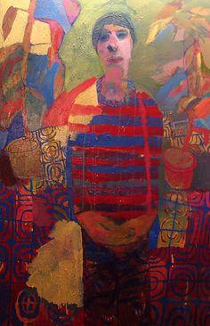 Meirion Ginsburg Self Portrait, garden