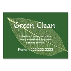 Recycle business cards make your own business card with this great cleaning company green eco friendly nature business cards this great business colourmoves