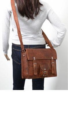 Women Leather Messenger bag Crossbody Satchel School Bag Travel Bag Handbag on Etsy