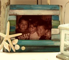 Paint stir sticks pic frame