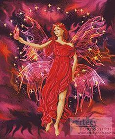 Fairy Flame cross stitch pattern.