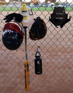 The DOM Black Softball Baseball Dugout Organizer Dugout Organization, Baseball Dugout, Baseball Equipment, Softball Players, Water Bottle, Black, Black People, Water Bottles