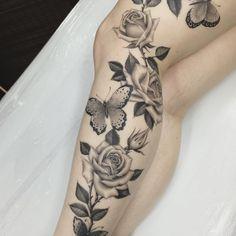 Tattoo, get a tattoo, leg tattoos, body art tattoos, leg sleeve tat Full Leg Tattoos, Girl Neck Tattoos, Leg Tattoos Women, Upper Arm Tattoos, Rose Tattoos For Men, New Tattoos, Body Art Tattoos, Cool Tattoos, Future Tattoos