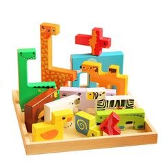 Kids 3D Puzzle Jigsaw Wooden Toys Children Cartoon Animal Puzzles Educating New #Kids3DChina