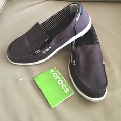 CROCS Women's Walu Loafer - black / Oyster New PRICE DROP - FIRM.  Women's Crocs Walu loafers. Brand new never worn. I listed these as new with tags because I hastily took the tags off when I received them.  These are currently $64.99  at Croc. Great deal! crocs Shoes Flats & Loafers