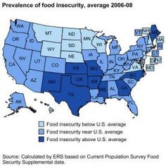 Recent studies published by the USDA & Feeding America find that food insecurity has increased in the United States w/ five States topping the chart: Texas, Arkansas, Mississippi, North Carolina, & Georgia. World Hunger, Human Rights Activists, Food Insecurity, Play The Video, Insecure, How To Stay Healthy, United States, Study, Public Health