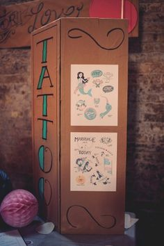 why yes, i'm so glad you asked! of course you should have a temporary love tattoo booth at your wedding! (photo by joyeuse photography on ruffled blog)