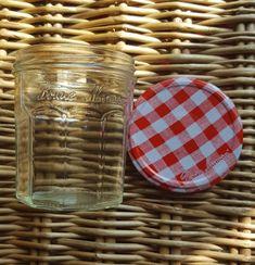 Empty Jars 3 x Bonne Maman Red Gingham Lids Red Gingham, Wicker Baskets, Empty, Jars, Home Decor, Decoration Home, Pots, Room Decor, Jar