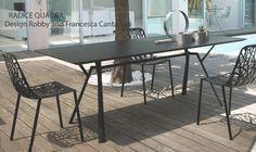 Table RADICE QUADRA, Aluminium Indoor/Outdoor, 150x90 Cm, FAST Spa