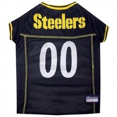 Pittsburgh Steelers Dog Jersey – Yellow Trim