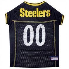 Pittsburgh Steelers Dog Jersey – Yellow Trim