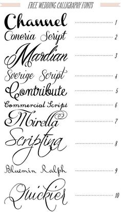Free 40 fonts for DIY Printable Wedding Invitations Channel! - Fonts - Ideas of Fonts - Free 40 fonts for DIY Printable Wedding Invitations Channel! Fancy Fonts, Cool Fonts, Pretty Fonts, Beautiful Fonts, Classy Fonts, Elegant Fonts, Beautiful Calligraphy, Gratis Fonts, Diy Tattoo