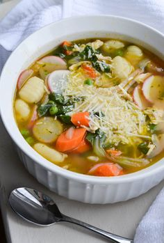 An easy routine to fall into is defaulting to the typical potato, onion, celery for soups. For this spring veggie one, I pushed myself to try new things we don't reach for as often. And David absolutely RAVED. It was no more work for me to put the soup together, but it much for interesting...