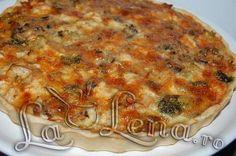 Quiche(Tarta) cu pui, ciuperci si broccoli Quiche Lorraine, Pizza, Food Videos, Broccoli, Macaroni And Cheese, Healthy Recipes, Cooking, Ethnic Recipes, Pie