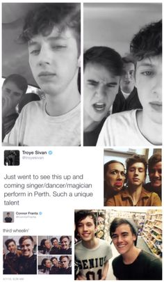Troye Sivan and Connor Franta . tronnor<< I ship Troyler but I love Connor and Troyes friendship