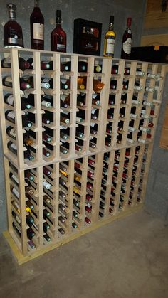 Casiers bouteilles casier vin rangement du vin am nagement cave casier bo - Casier en bois de rangement ...