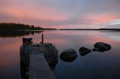 Summer Night at Ostmanskår, Vaasa, Finland Midnight Sun, Dark Forest, My Happy Place, Summer Nights, Back Home, Night Time, Finland, Northern Lights, Mountains