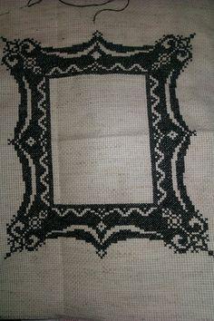 Gothic frame cross stitch