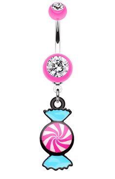 Sugar Swirls Candy Belly Button Ring