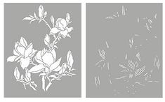 Магнолия Трафарет Цветок магнолии трафареты цветок магнолии трафареты