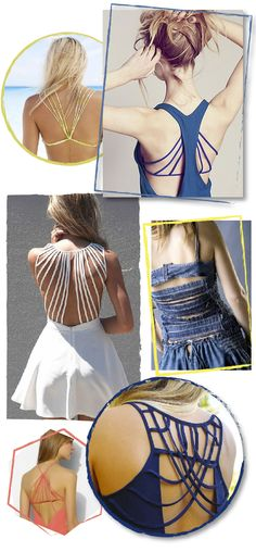 Dare to DIY: Inspiración DIY: Strappy backs